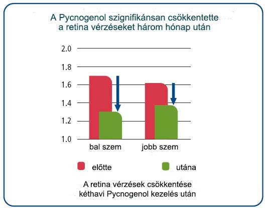 A Pycnogenol csökkentette a retina-vérzéseket