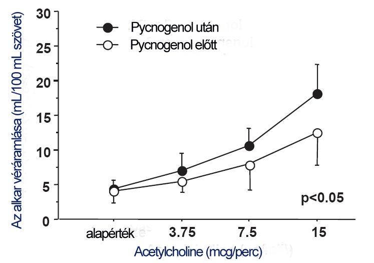 Pycnogenol egyik hatásmechanizmusa az értágító nitrogénoxid termelésének növelése