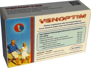 Venoptim Tablet (with Diosmin, Horse Chestnut, Grape Seed, and Centella Asiatica Extract)