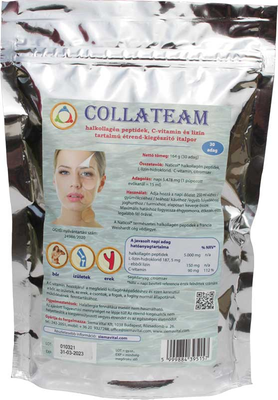CollaTeam kollagén C-vitamin lizin