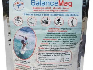 BalanceMag magnézium-citrát, -glicinát, -taurát italpor
